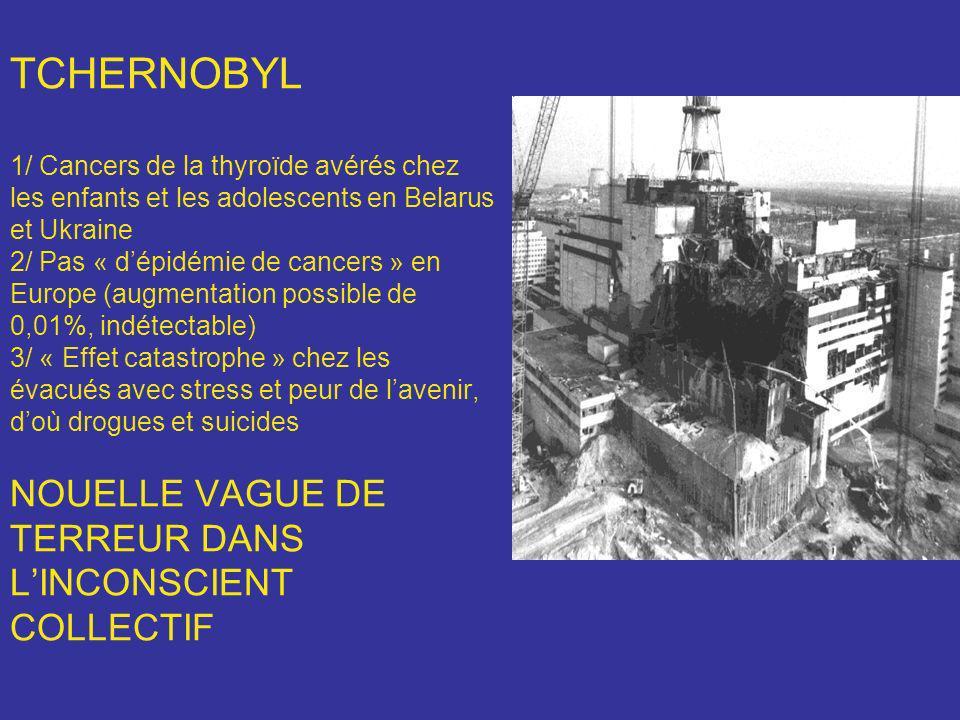 TCHERNOBYL 1/ Cancers de la thyroïde avérés chez les enfants et les adolescents en Belarus et Ukraine 2/ Pas « dépidémie de cancers » en Europe (augme