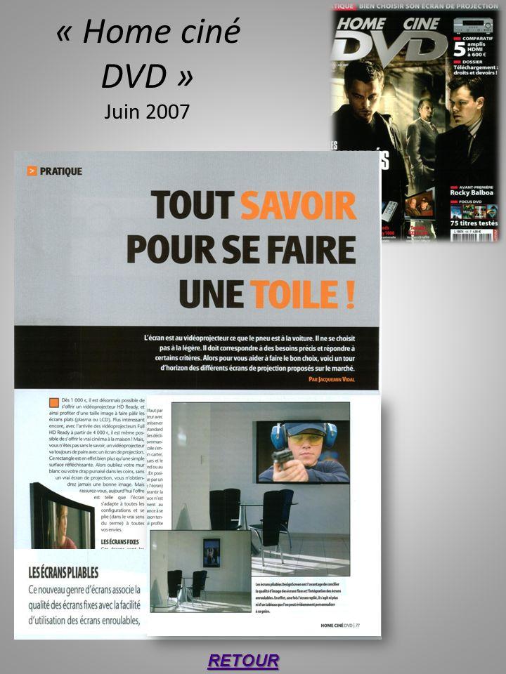 « Home ciné DVD » Juin 2007 RETOUR