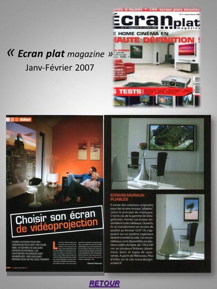 « Ecran plat magazine » Janv-Février 2007 RETOUR