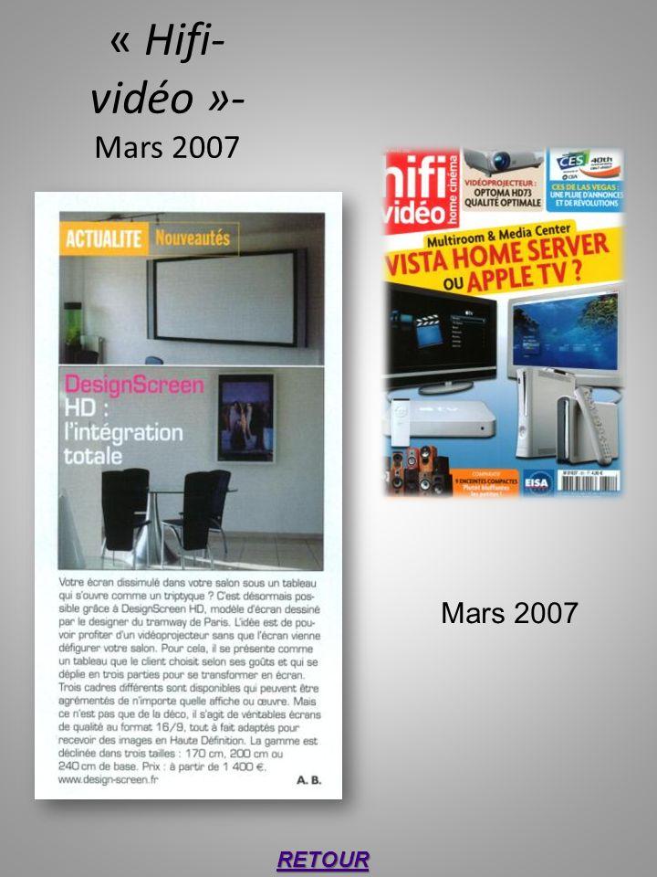 « Hifi- vidéo »- Mars 2007 RETOUR Mars 2007