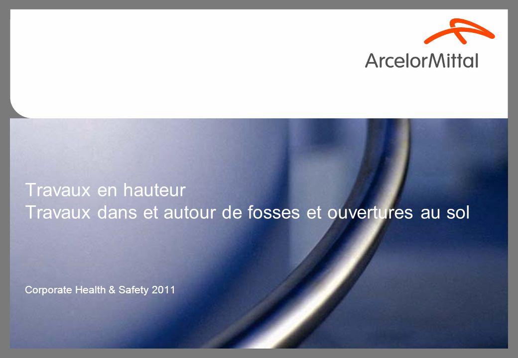 Travaux en hauteur Travaux dans et autour de fosses et ouvertures au sol Corporate Health & Safety 2011