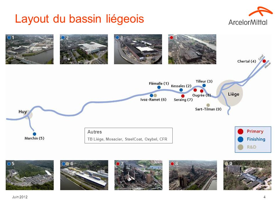 Juin 20124 Autres TB Liège, Mosacier, SteelCoat, Oxybel, CFR Layout du bassin liégeois