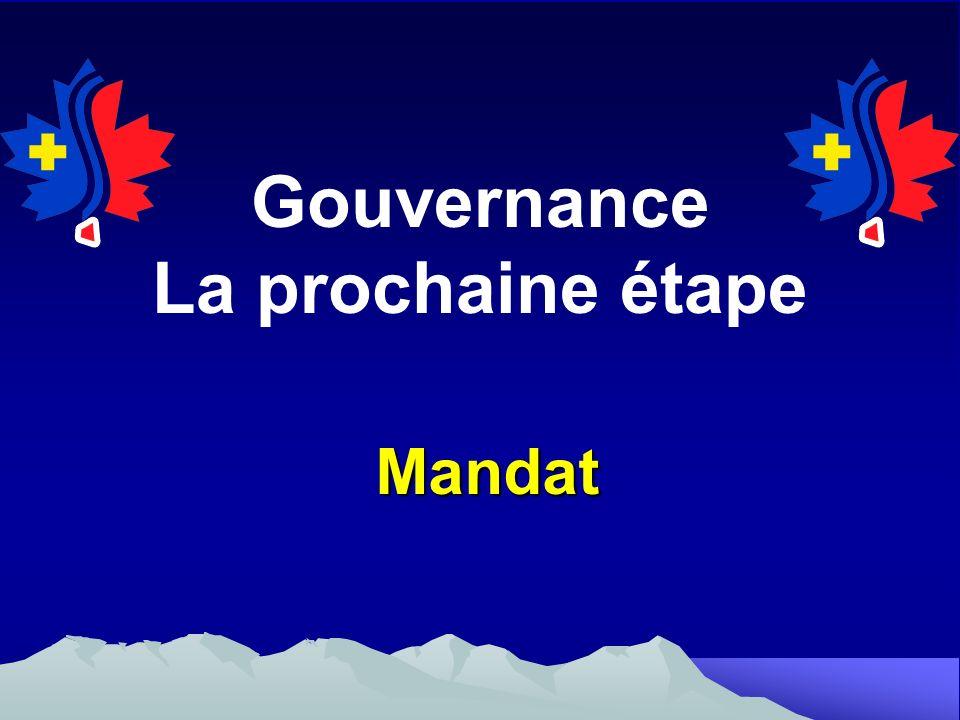 Gouvernance La prochaine étape Mandat