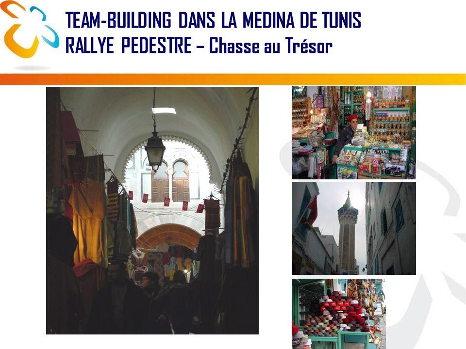 TEAM-BUILDING DANS LA MEDINA DE TUNIS RALLYE PEDESTRE – Chasse au Trésor