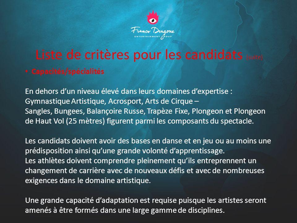 Planification des Auditions Des auditions sur Paris sont prévues pour les 20 et 21 novembre inclus.
