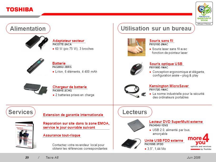 Juin 200628/Tecra A8 Communication Casque stéréo sans fil PX1224E-2EPH 2 en 1 ! Casque stéréo et VoIP prêt 8 heures d'autonomie de la batterie (compre