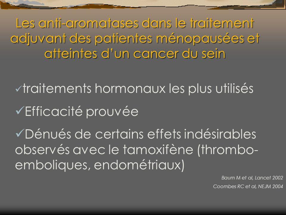 Les anti-aromatases dans le traitement adjuvant des patientes ménopausées et atteintes dun cancer du sein traitements hormonaux les plus utilisés Effi