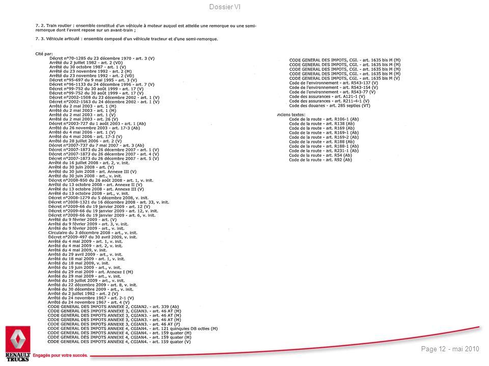 Dossier VI Page 12 - mai 2010