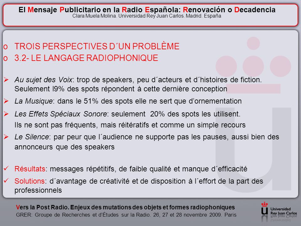 Vers la Post Radio.