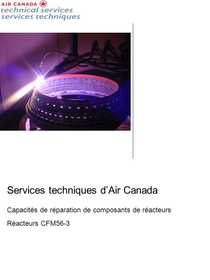 Composants de réacteurs - Expertise en matière de conception des réparations Fort de plus de 60 ans d expérience en réparation de moteurs d avion, les Services techniques d Air Canada sont mieux placés que quiconque pour réduire les coûts de maintenance de vos réacteurs.