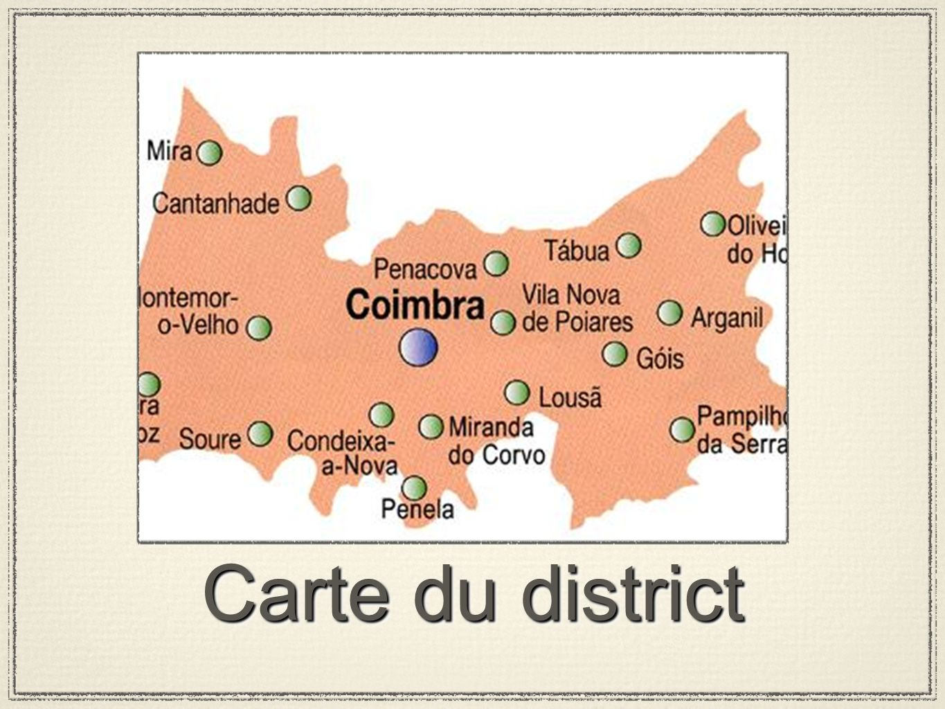 Carte du district