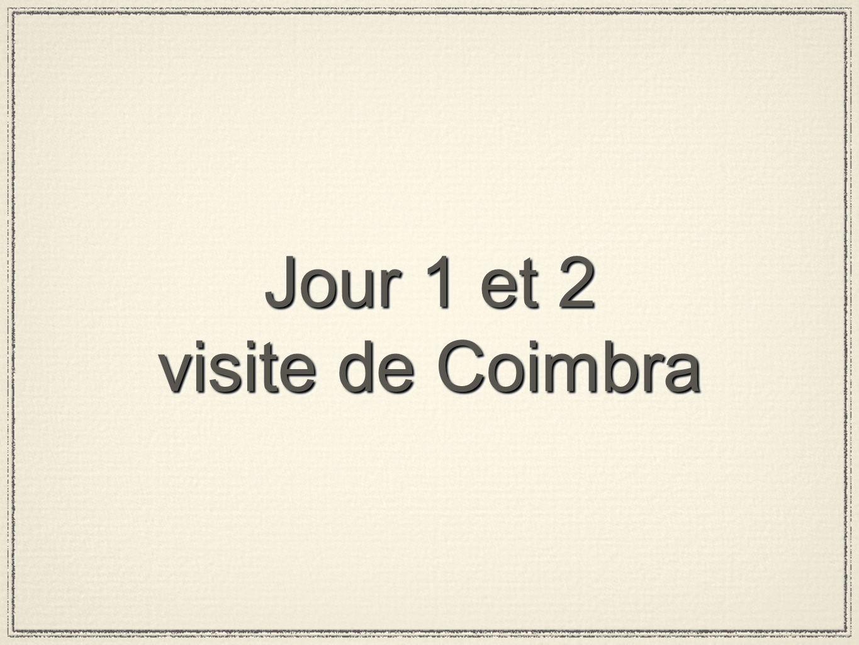 CoimbraCoimbra Cité monumentale aux rues étroites, places, escaliers et arcs médiévaux, Coïmbra fut le lieu de naissance des six premiers rois de Portugal et, en concurrence avec Guimarães, la capitale du Portugal, avant la prise de Lisbonne.