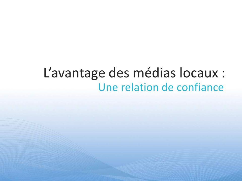 Lavantage des médias locaux : Une relation de confiance