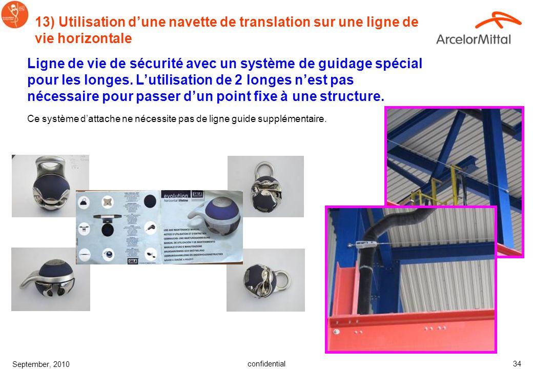 confidential September, 2010 33 12) Nettoyage du harnais et de la longe Les soins de base pour les équipements de sécurité prolongeront efficacement l