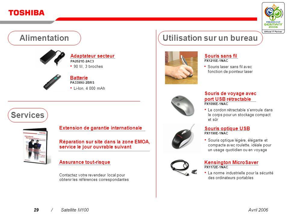 Avril 200628/Satellite M100 Tuner TV USB DVB-T PX1211E-1TVD Télévision terrestre numérique compatible DVB-R gratuite antenne incluse* Casque stéréo sans fil PX1224E-1UPH 2-en-1 .