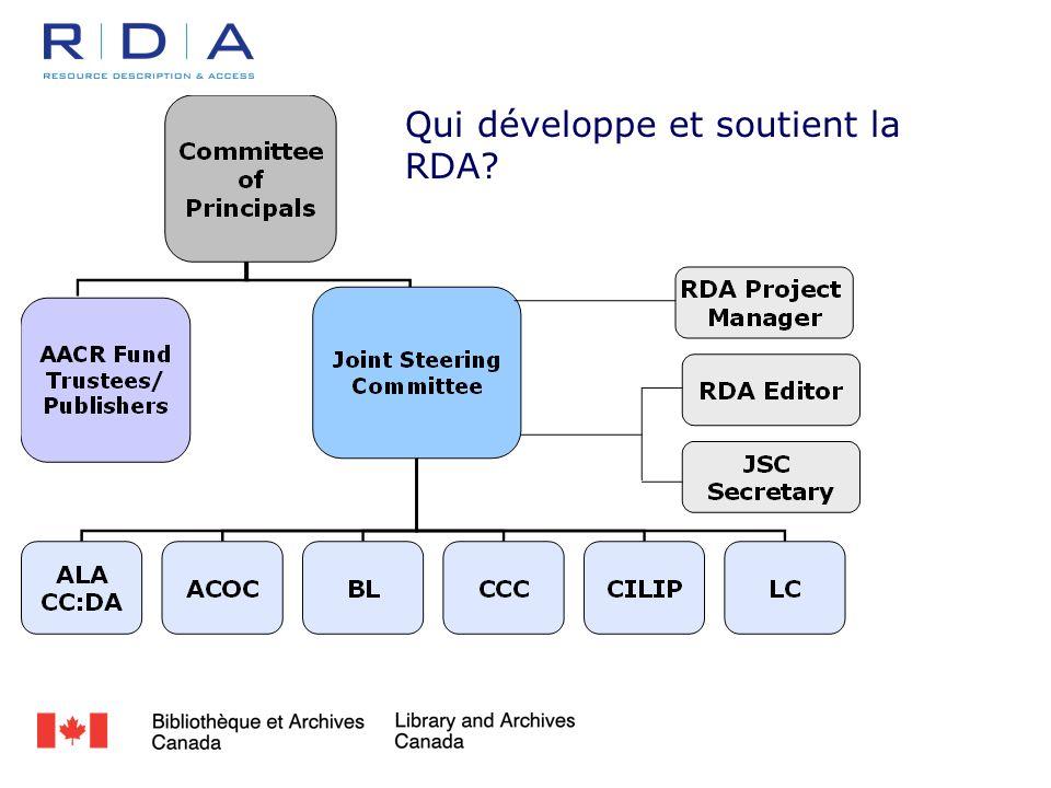 Qui développe et soutient la RDA