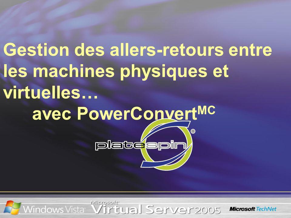 Gestion des allers-retours entre les machines physiques et virtuelles… avec PowerConvert MC