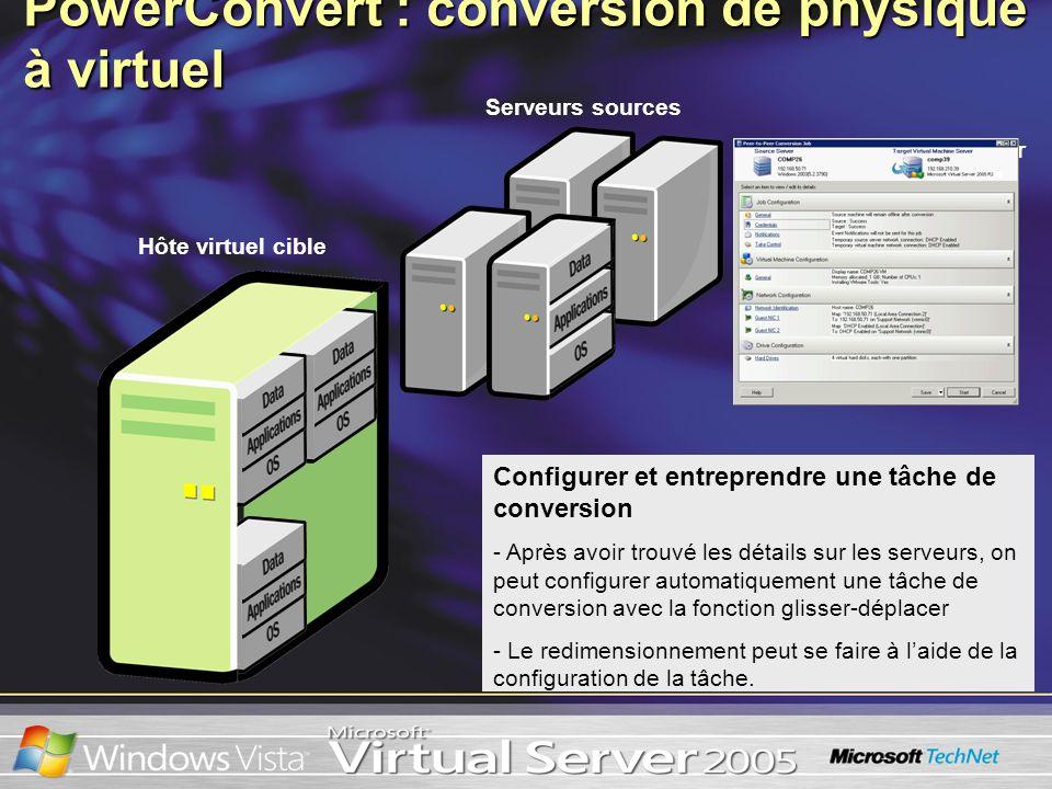 Configurer et entreprendre une tâche de conversion - Après avoir trouvé les détails sur les serveurs, on peut configurer automatiquement une tâche de