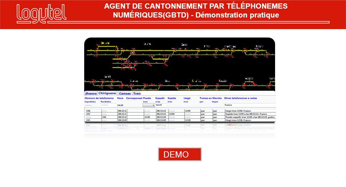 DEMO AGENT DE CANTONNEMENT PAR TÉLÉPHONEMES NUMÉRIQUES(GBTD) - Démonstration pratique