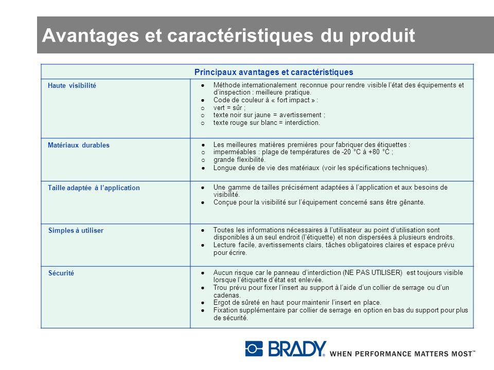 Avantages et caractéristiques du produit Principaux avantages et caractéristiques Haute visibilité Méthode internationalement reconnue pour rendre vis
