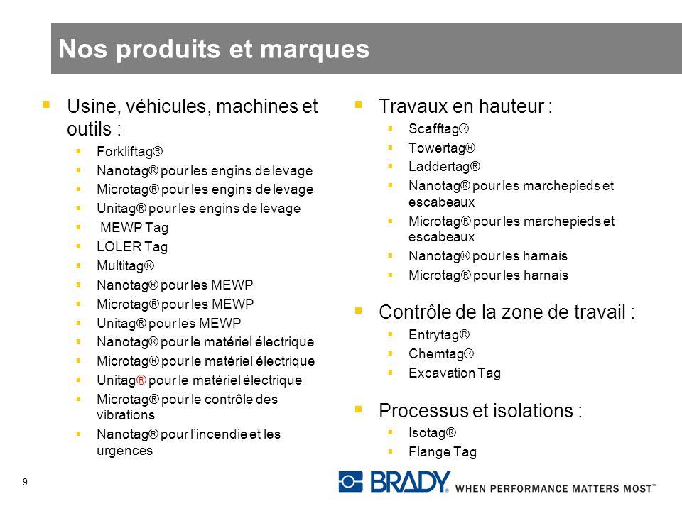 Usine, véhicules, machines et outils : Forkliftag® Nanotag® pour les engins de levage Microtag® pour les engins de levage Unitag® pour les engins de l