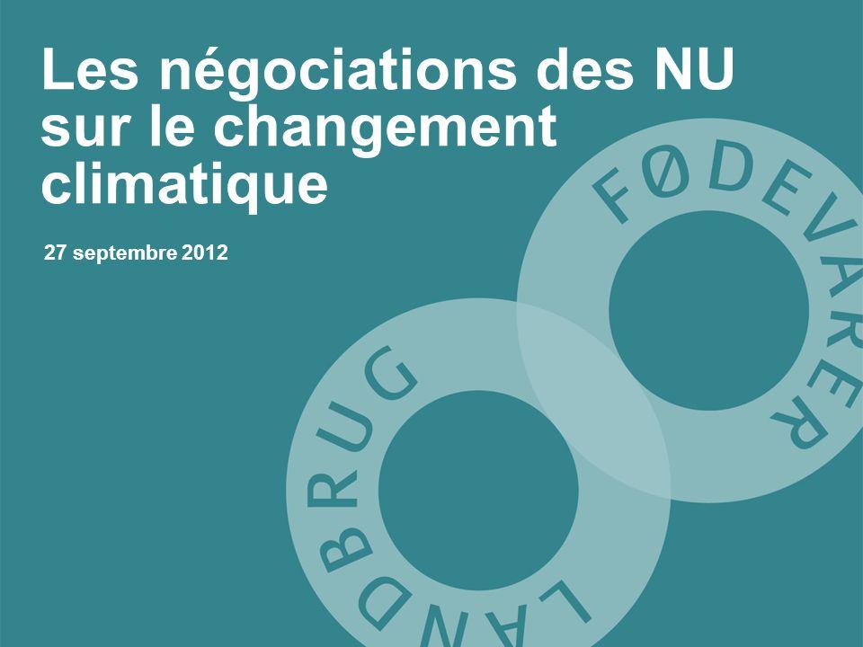 Les négociations des NU sur le changement climatique 27 septembre 2012