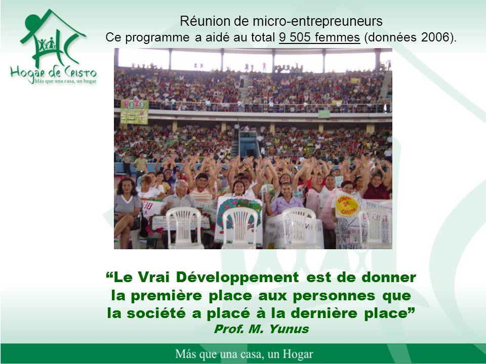 Le Vrai Développement est de donner la première place aux personnes que la société a placé à la dernière place Prof. M. Yunus Réunion de micro-entrepr