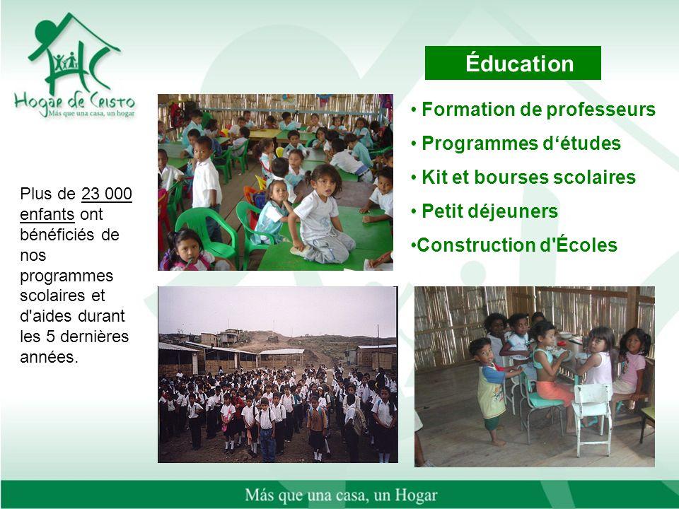 Plus de 23 000 enfants ont bénéficiés de nos programmes scolaires et d aides durant les 5 dernières années.