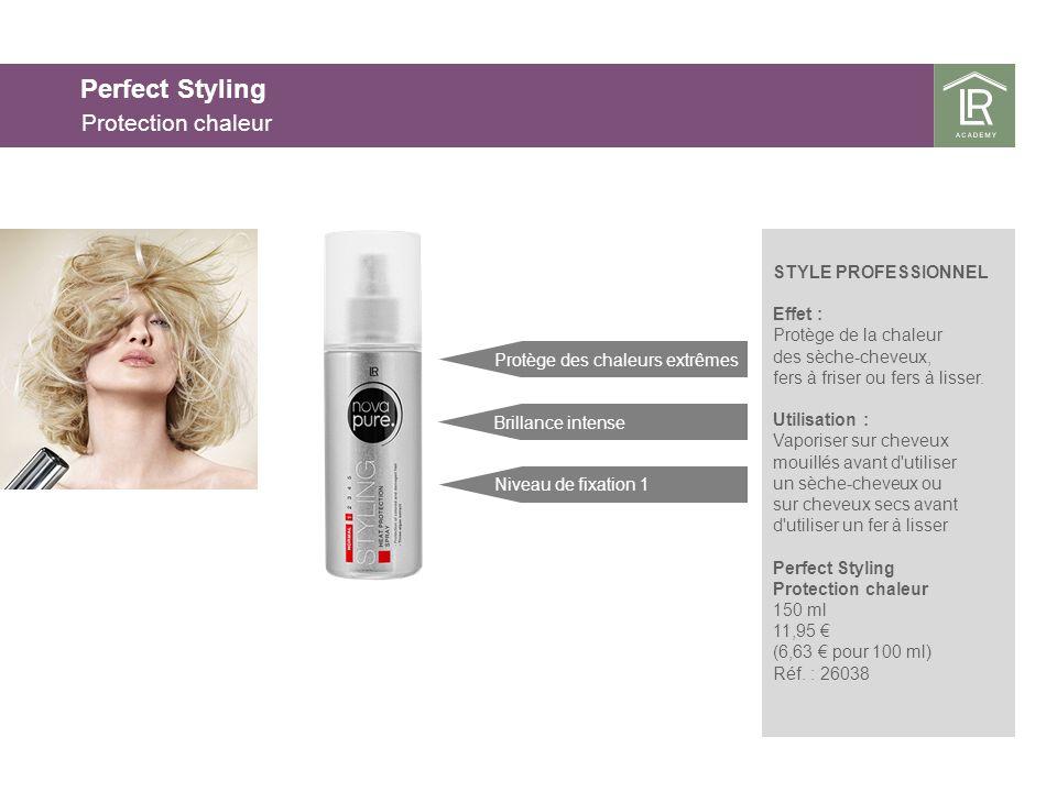 STYLE PROFESSIONNEL Effet : Protège de la chaleur des sèche-cheveux, fers à friser ou fers à lisser.