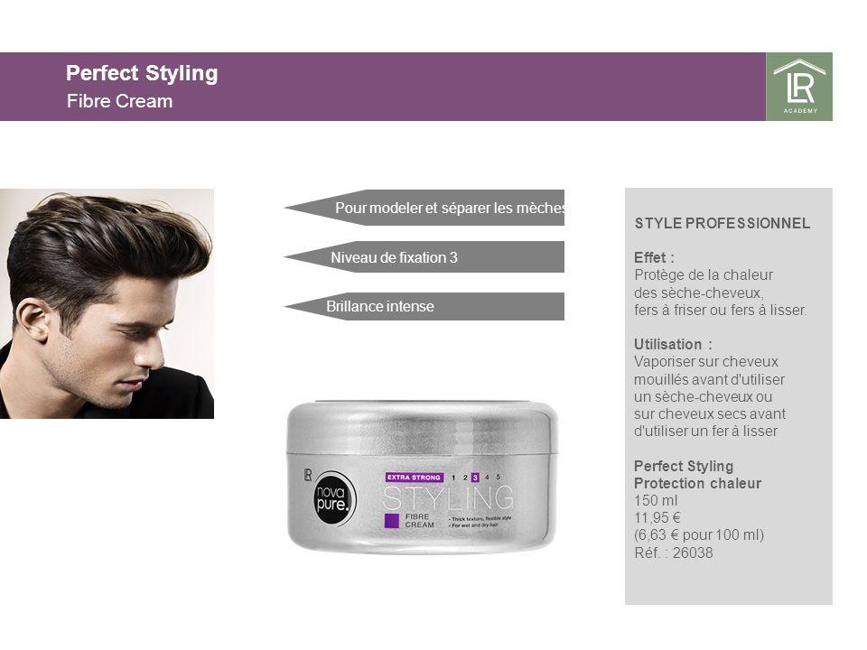 Perfect Styling Fibre Cream STYLE PROFESSIONNEL Effet : Protège de la chaleur des sèche-cheveux, fers à friser ou fers à lisser.