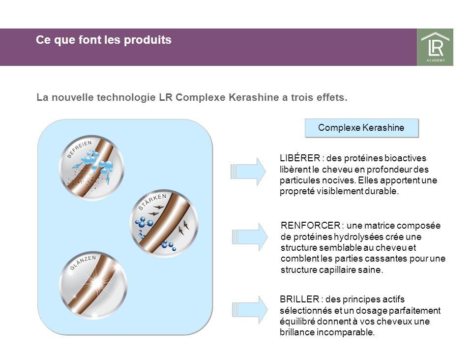 Ce que font les produits La nouvelle technologie LR Complexe Kerashine a trois effets.