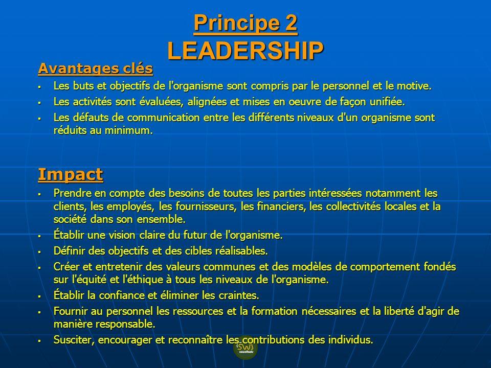 Avantages clés Les buts et objectifs de l'organisme sont compris par le personnel et le motive. Les buts et objectifs de l'organisme sont compris par