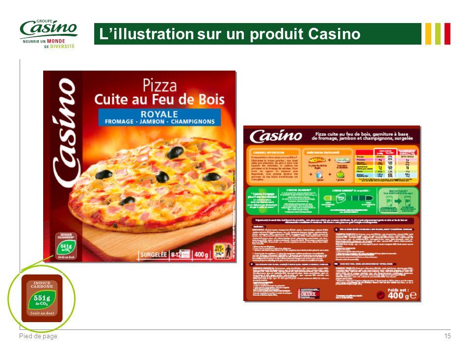 Pied de page15 Lillustration sur un produit Casino