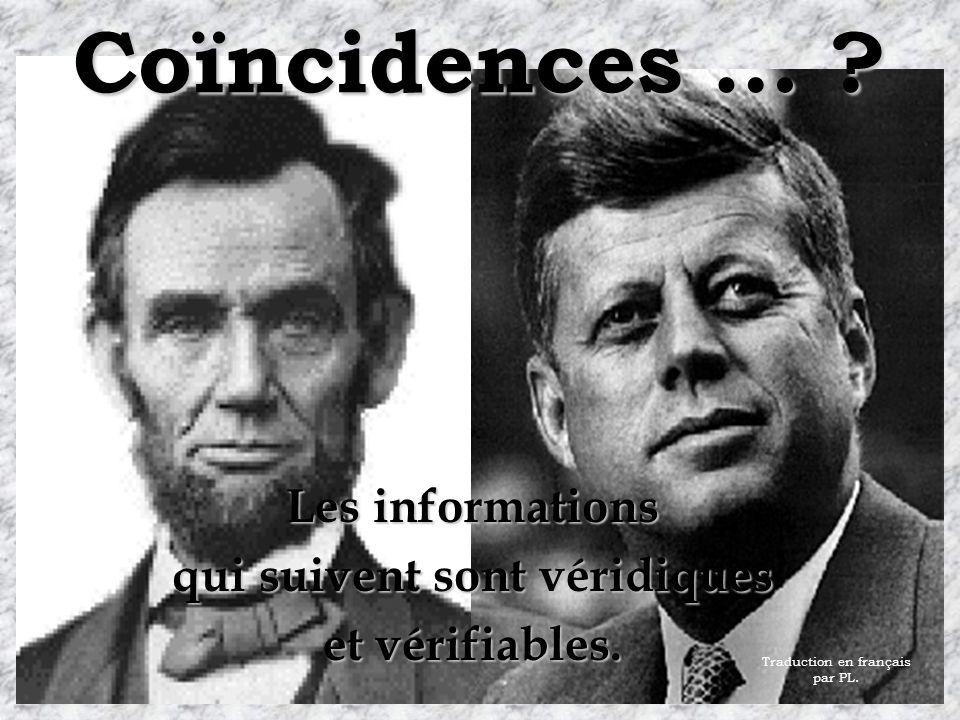 Coïncidences … .Les informations qui suivent sont véridiques et vérifiables.