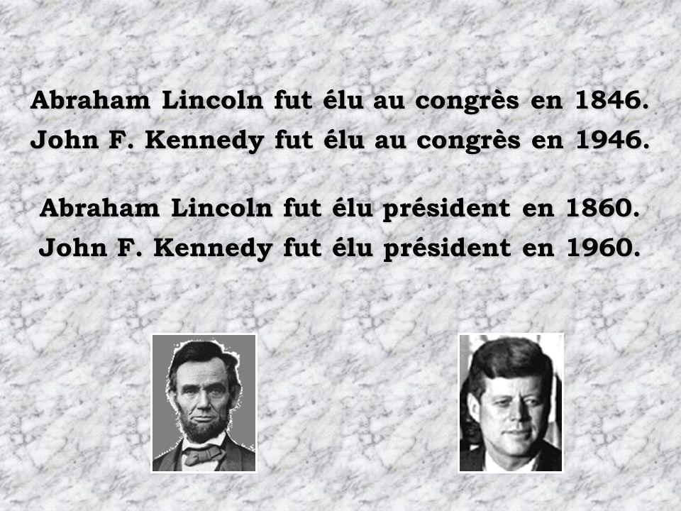 Abraham Lincoln fut élu au congrès en 1846.Abraham Lincoln fut élu président en 1860.