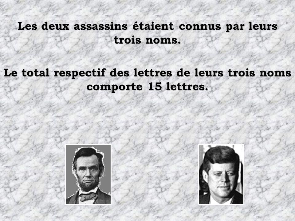 Les deux assassins étaient connus par leurs trois noms.