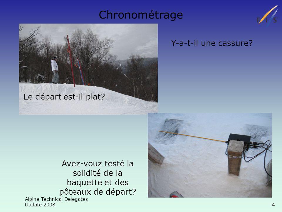 Alpine Technical Delegates Update 2008 25 Chronométrage Merci.