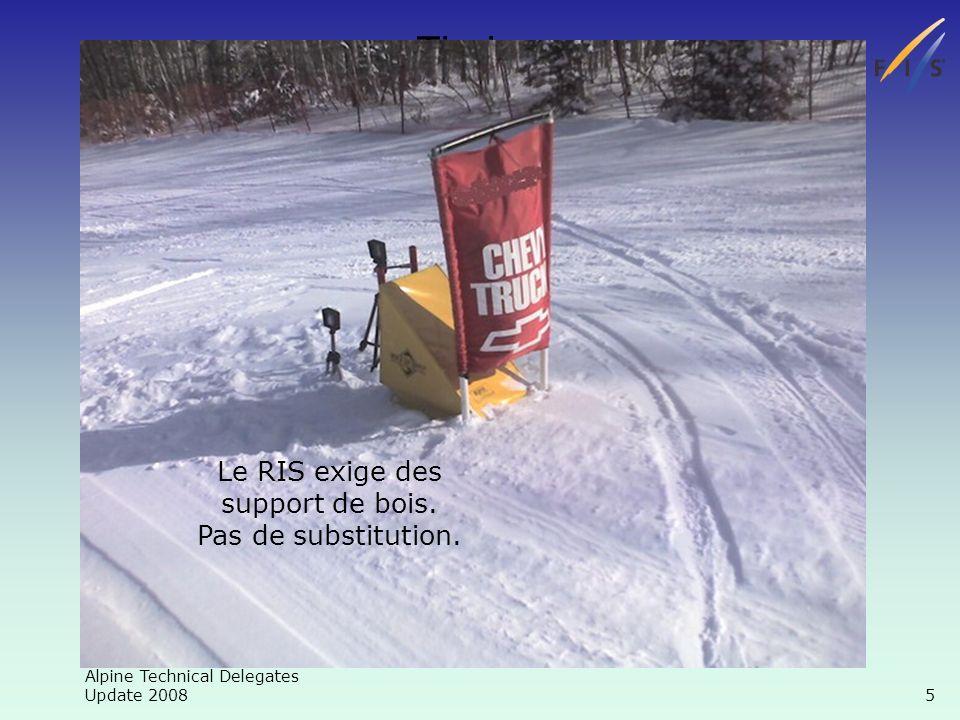 Alpine Technical Delegates Update 2008 16 Chronométrage Malfonctionnement du chrono Le 2e jour, le problème doit être résolu ou le chrono changé Jour 1 Jour 2