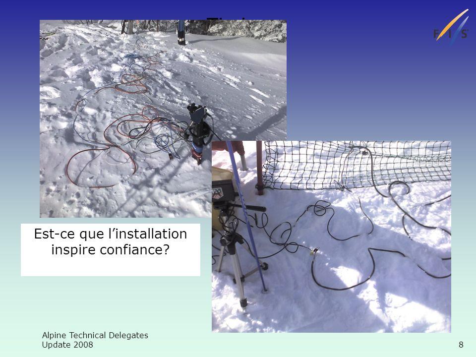 Alpine Technical Delegates Update 2008 19 Chronométrage Temps du jour BON