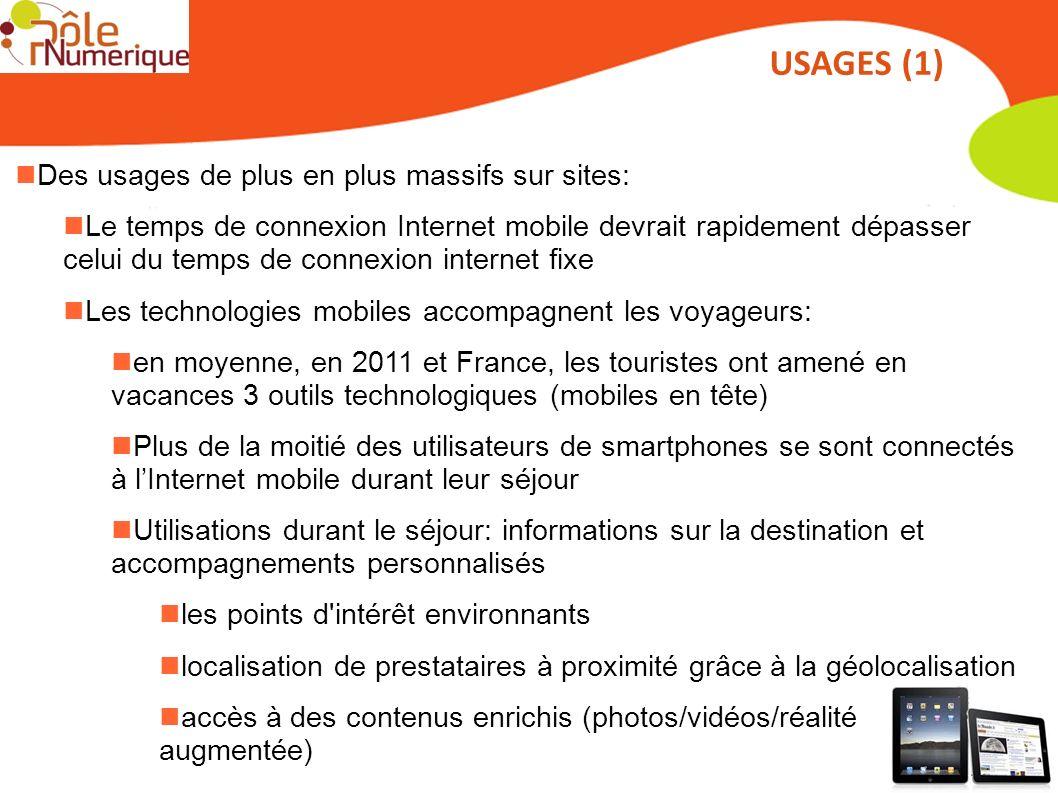Des usages de plus en plus massifs sur sites: Le temps de connexion Internet mobile devrait rapidement dépasser celui du temps de connexion internet f