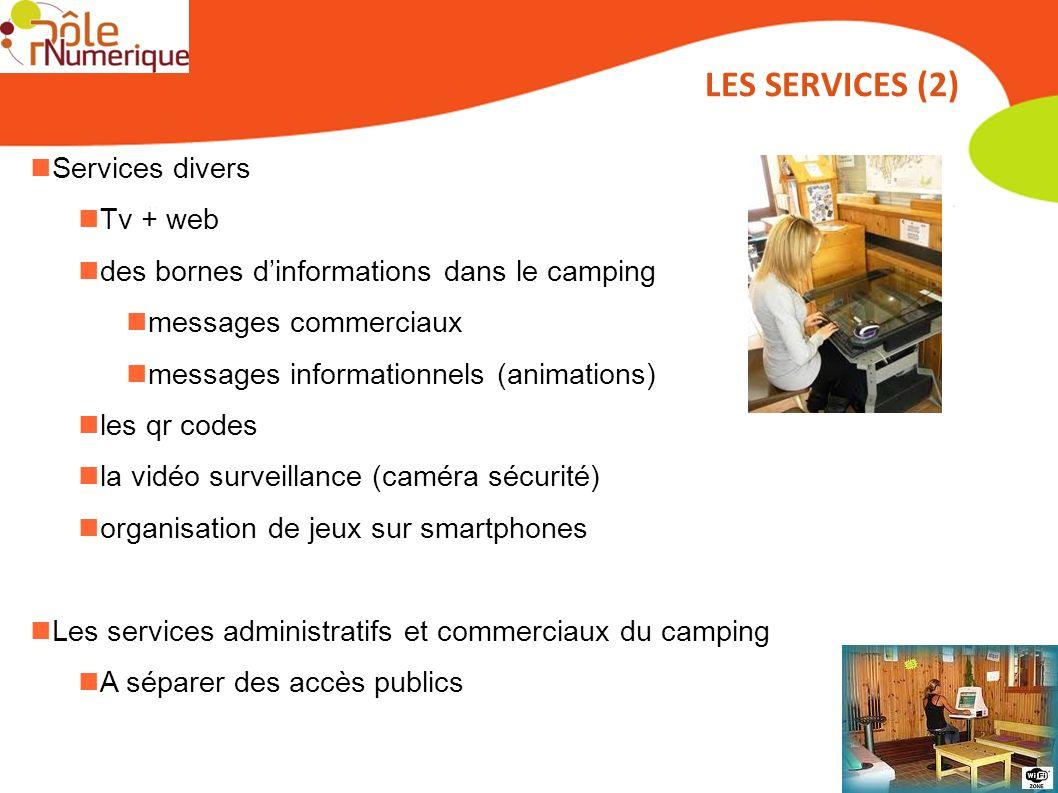Services divers Tv + web des bornes dinformations dans le camping messages commerciaux messages informationnels (animations) les qr codes la vidéo sur