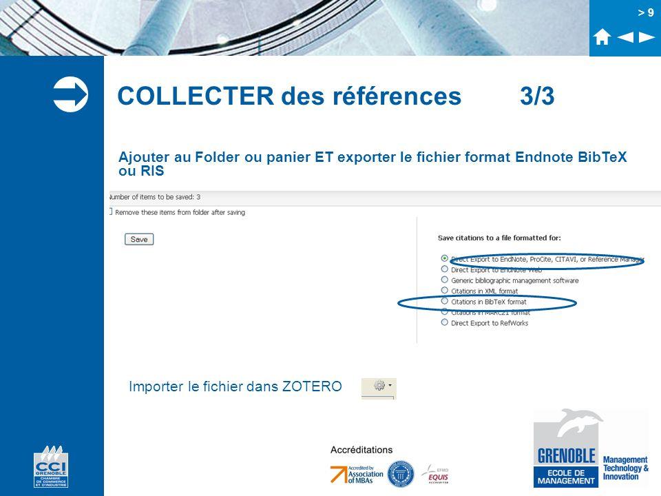 > 10 Récupérer les références à partir dun pdf Faire glisser le fichier pdf dans la zone centrale de Zotero Dans Zotero, clic droit sur le PDF « Récupérer les métadonnées du PDF » N.B Ne fonctionne pas systématiquement