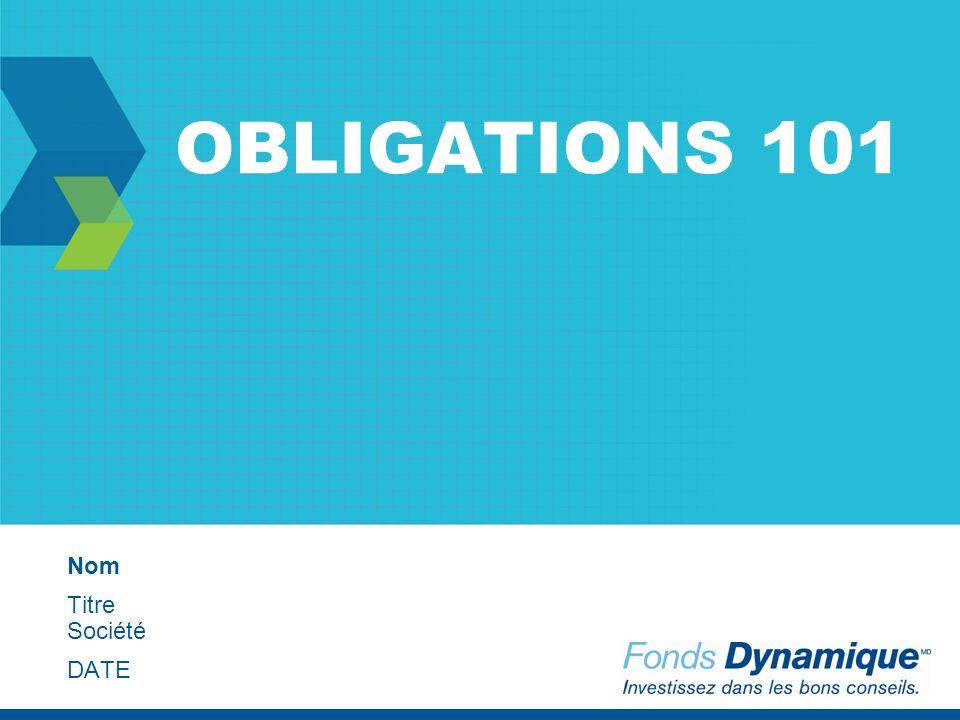 OBLIGATIONS 101 Nom Titre Société DATE