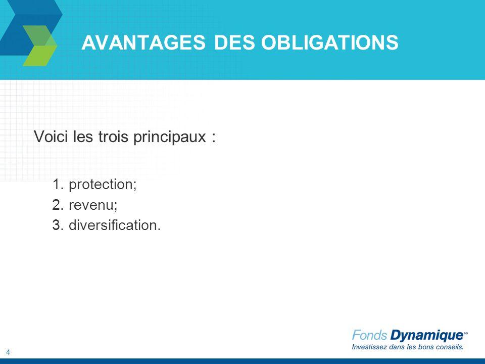 4 Voici les trois principaux : 1. protection; 2. revenu; 3. diversification.