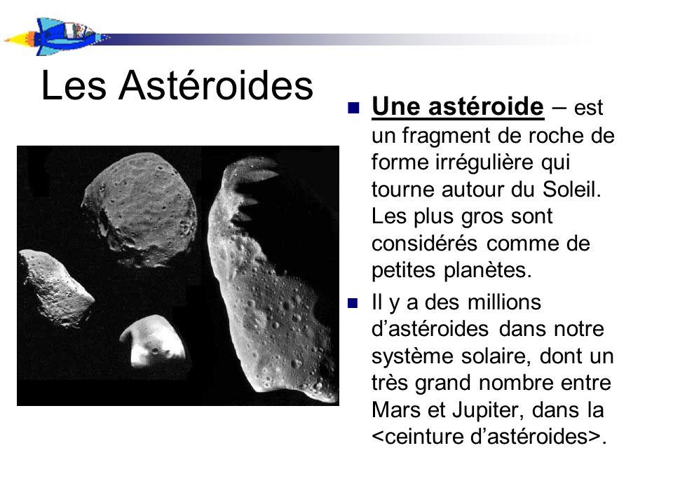 Les Astéroides Une astéroide – est un fragment de roche de forme irrégulière qui tourne autour du Soleil. Les plus gros sont considérés comme de petit