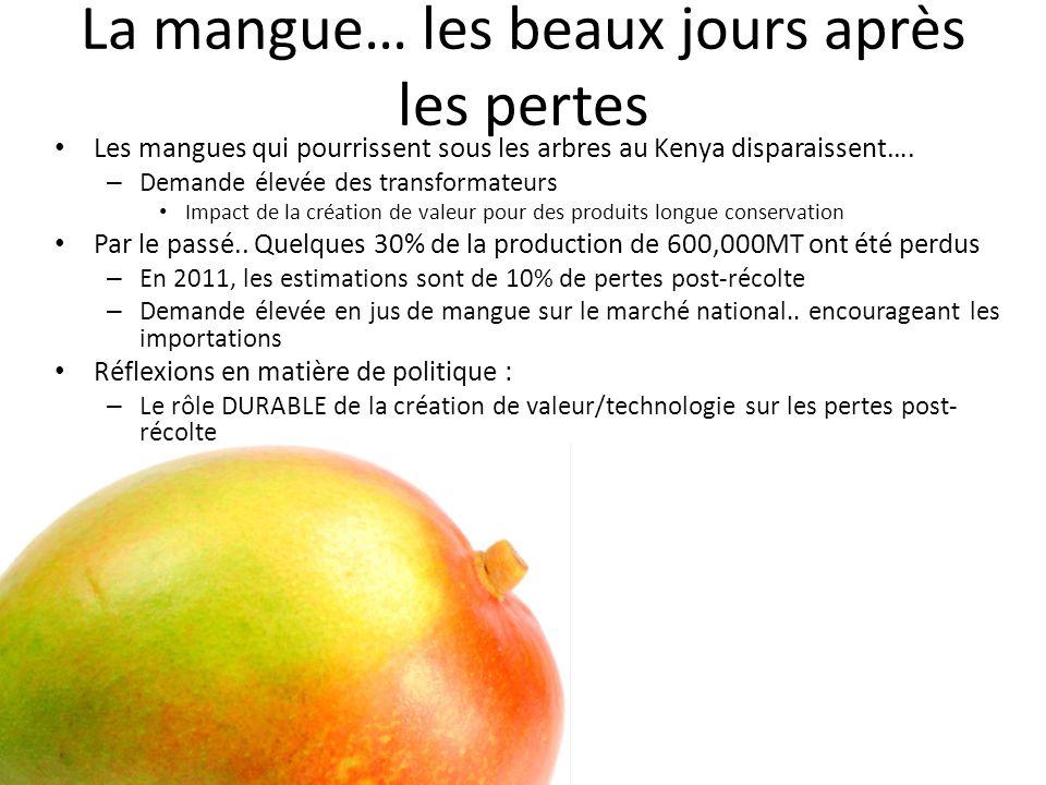 Conclusion… Les produits frais….