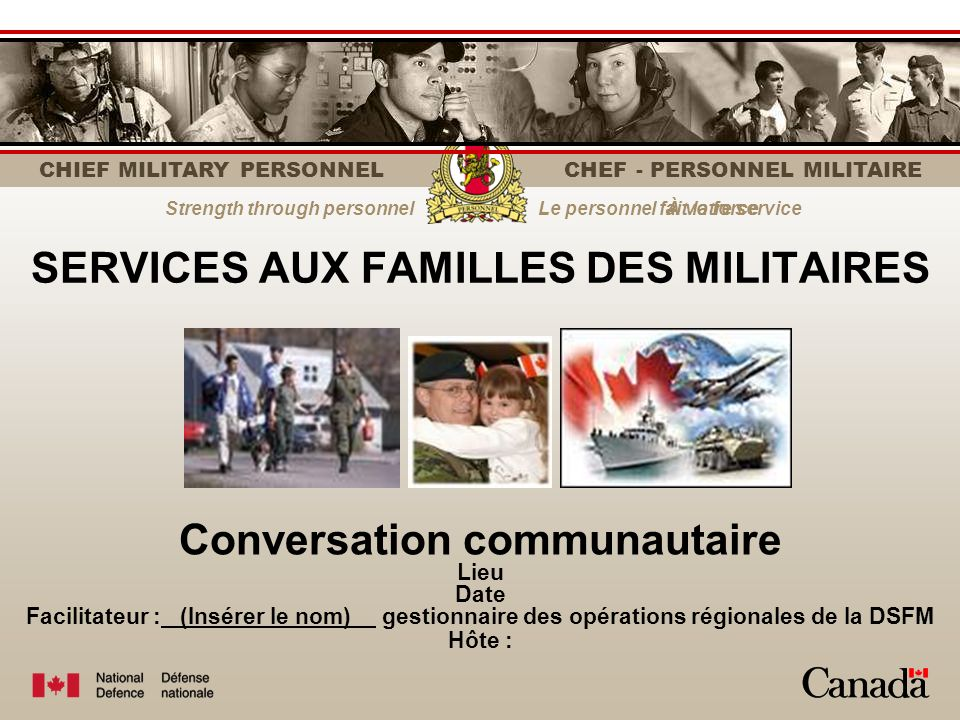 CHIEF MILITARY PERSONNEL | CHEF - PERSONNEL MILITAIRE