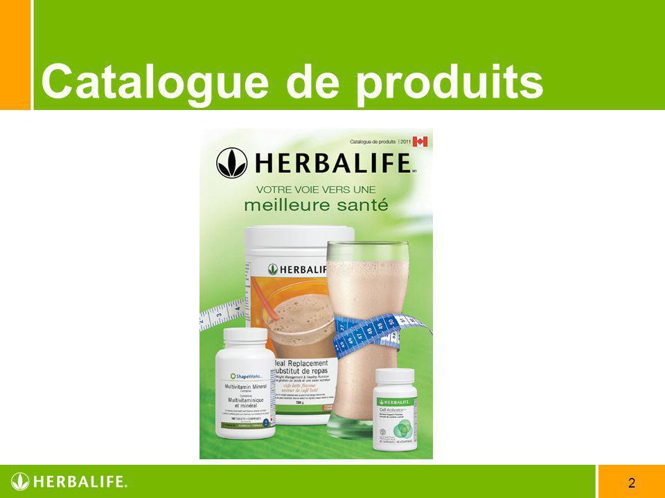 2 Catalogue de produits
