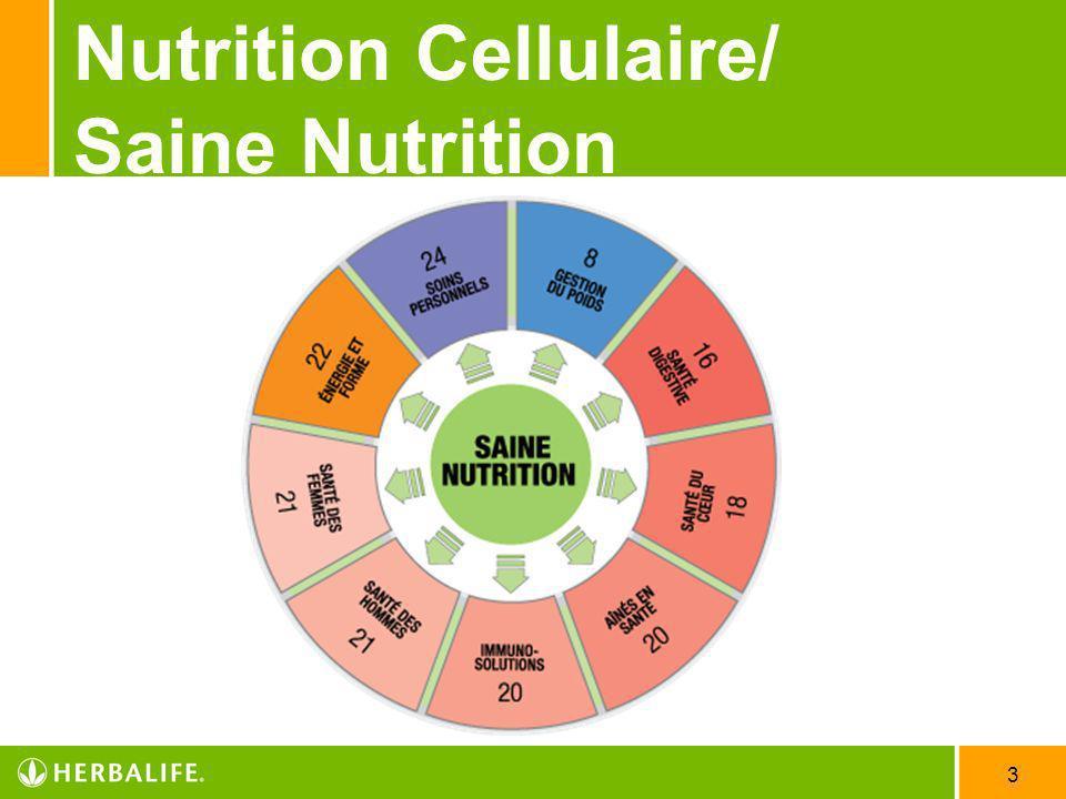 3 Nutrition Cellulaire/ Saine Nutrition