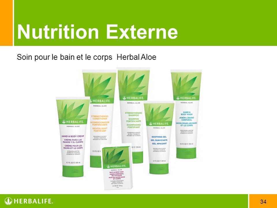 34 Nutrition Externe Soin pour le bain et le corps Herbal Aloe